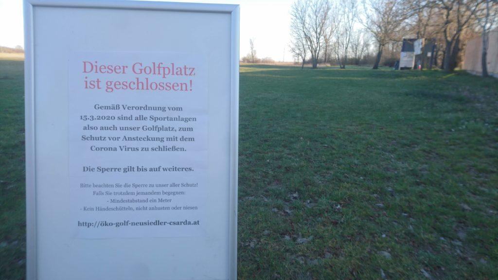 Dieser Golfplatz ist geschlossen